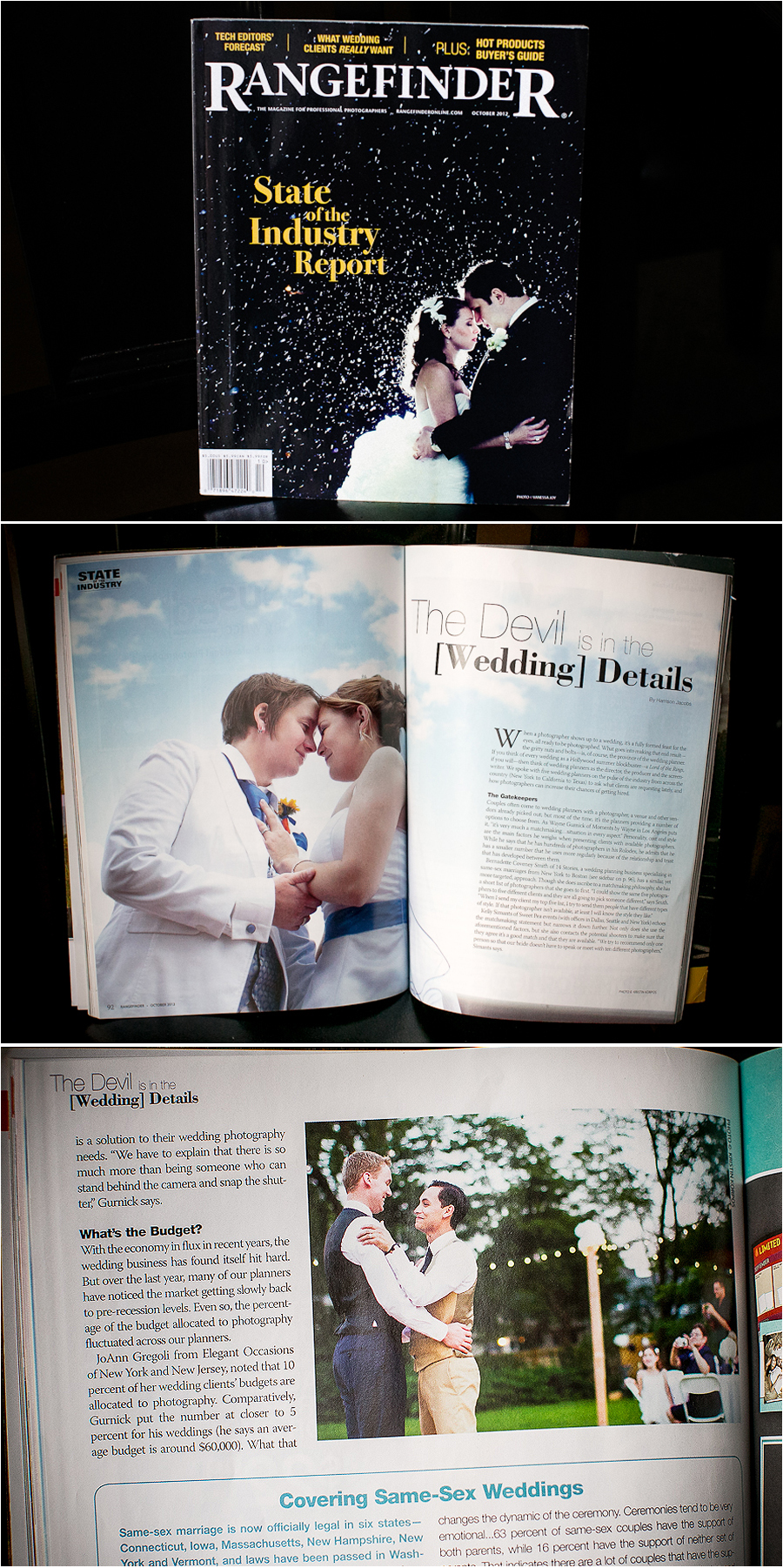 GayweddingphotographerRangefinder1 Gay Wedding Photos featured in Rangefinder Magazine